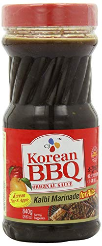 CJ Korean BBQ Sauce, Kalbi, 29.63-Ounce Bottle for Ribs (1)