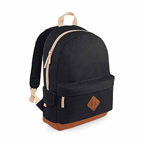 BagBase Heritage Backpack 1er Pack Schwarz