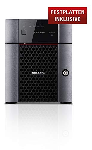 Buffalo TeraStation TS3410DN0802-EU Desktop NAS, 8 TB teilbestückt (inklusive 2 x 4 TB NAS HDDs)