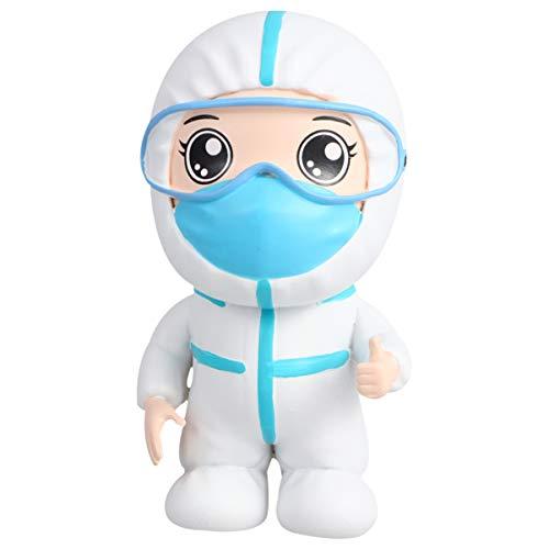 Milisten Muñecos de Felpa Suave Médico Enfermera Muñeca Estatuilla Enfermera Doctor Regalo Conmemorativo para El Doctor Enfermera Apreciación Fiesta Favores (Azul Cielo)
