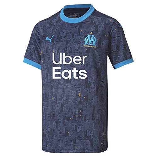 PUMA Olympique Marsella Temporada 2020/21-AWAY Shirt Replica JR with Sponsor PE Camiseta...