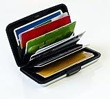 MaxBox - Funda para tarjetas de aluminio, color negro