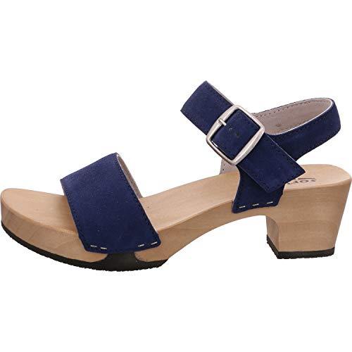 Softclox Sandale Größe 43 EU Blau (blau Stand)