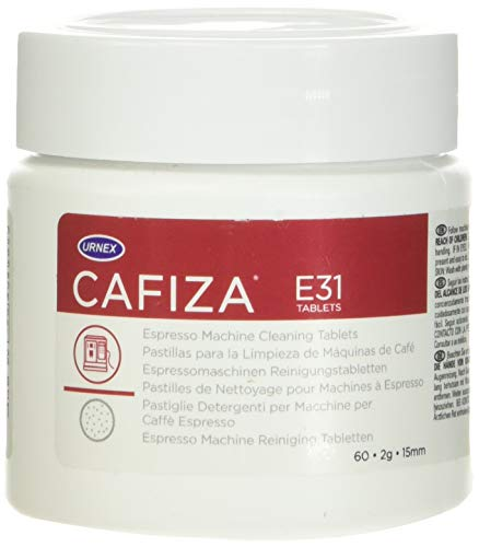Cafiza Espresso Machine Cleaner and Descaler - 60 Cleaning Tablets - For Professional Barista Use