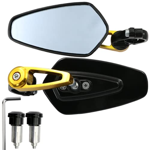 Reflector Vista Posterior Espejo Moto Motocicleta Bicicleta eléctrica Retro Manillar Reverso Reflector Reflector Vista Trasera Espejo Ciclismo Productos Deportivos Equipo Deportivo (Paquete de 1 par)