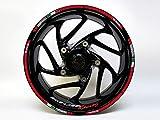 Pegatinas 710018-VA para llantas, juego Italia Racing, diseño para moto o coche