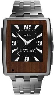 Slickwraps Slickwraps Real Mahogany Wood Natural Series Wraps/Skins for Pebble Steel Watch - Retail Packaging - Real Mahogany
