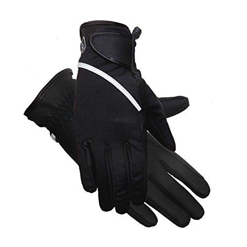 Riders Trend Damen Reithandschuhe Softshell Thinsulate gefüttert wasserdicht Winter Reithandschuhe XXL Black/Grey Reflective Trim