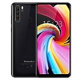 Blackview A80Pro スマートフォン本体 4Gスマホ本体 simフリースマートフォン本体 6.49インチ 13MP 8MP 4680mAh RAM 4GB ROM 64GB Android 9.0端末 携帯電話 技適認証済み 1年間保証付き(ブラック)