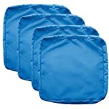 Sqodok Patio Cushions Cover 20'X22', 4 Pack Replacement Cushion Covers Outdoor Seat Covers Furniture Replacement Cushions Chair Pads Cover Washable Cushion Pillow Covers, Blue
