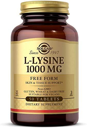 Solgar L-Lisina Comprimidos de 1000 mg, Envase de 50