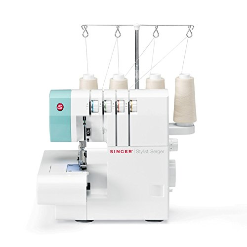 SINGER | Stylist 14SH764 Serger with 2, 3, or 4 Stitches for Various...