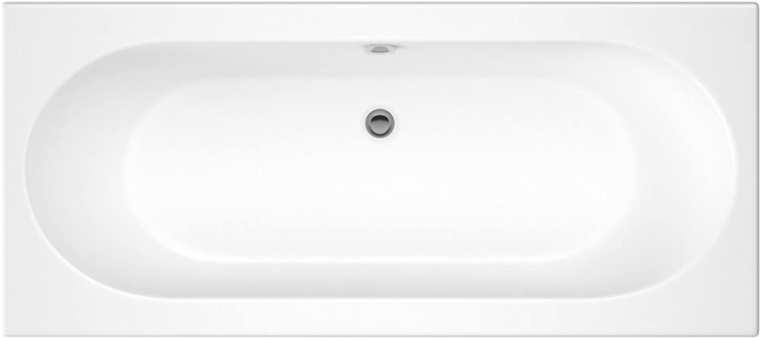 Premier Standard Modern Bathroom 1700mm Round Double Ended Bath Tub White Un-Drilled NEW