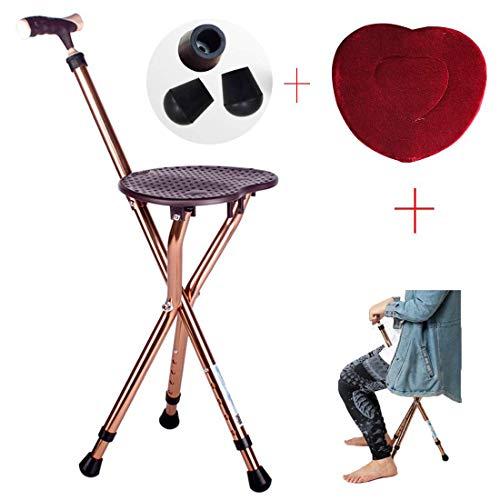 Taburete plegable para personas mayores de discapacidades/aleación de aluminio de altura regulable/altura 80-90 cm, ajuste de 5 marchas, diseño portátil/carga estática, 200 kg StyleName Size B