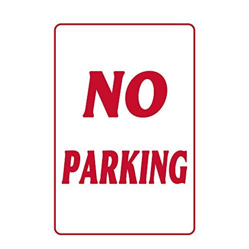 """U255uy Metallschilder, mit englischer Aufschrift """"No Parkinges"""", 40,6 x 30,5 cm, Rot auf Weiß, Dekoration für Kaffee, Büro, Pool, Hof, öffentliche Toilette, Parken, Heimdekoration, Kunstposter"""