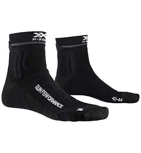 X-Socks Run Performance Socks, Calzini da Corsa Unisex-Adulto, Opal Black, 42-44