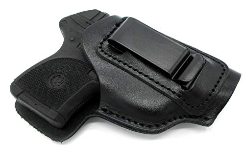 HOLSTERMART USA by CEBECI for Baby Autos Right Hand Black Leather IWB AIWB Inside Pants Holster COLT 22 25, RIGARMI 25, Beretta JETFIRE 950 ++