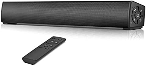 Computer Speakers, Bluetooth 5.0 Wired & Wireless PC Sound Bar, Stereo Soundbar Speaker for Desktop Computer, PC, Laptop, Smartphone, Tablets, Aux Connection