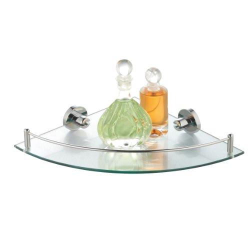 axentia Repisa de Baño para Cosméticos y Otros Accesorios, 25 x 5.7 x 25 cm