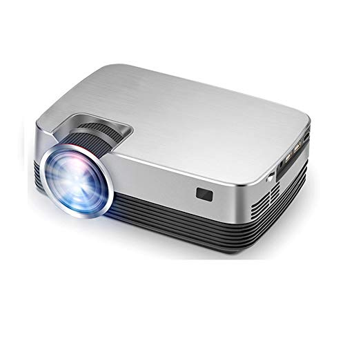 ROZIN Proyector Q6/s (Opcional Android TV Caja) 1280x720P proyector de vídeo, Soporte de vídeo Cine 3D portátil 1080P, Cine en casa,Q6S