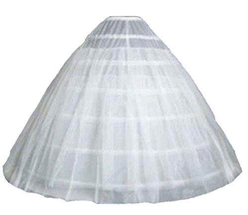 Lorembelle 6Hoop 1Etage Netz Extra Large Weiß Hochzeit Braut Unterrock Reifrock UK Petticoat
