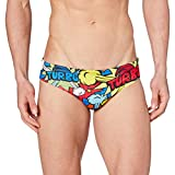 TurboTronic Pop Turbo Bañador para Hombre, Multicolor, L Unisex Adulto