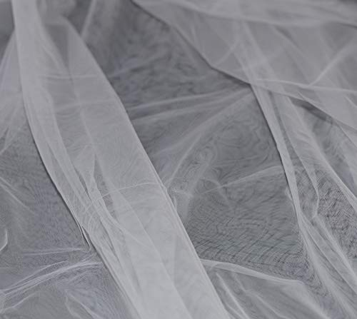 Tulle souple BLANC mariage grande largeur 300 cm au metre robe jupe tutu deco