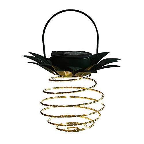 Ericama 2 Pack,Hanging Solar Pineapple String Lights - 60 LEDs,Waterproof Wall Lamp Fairy Night Lights Iron Wire Art Outdoor Home Decorate,for Garden Yard Patio Walkway Plants Porch