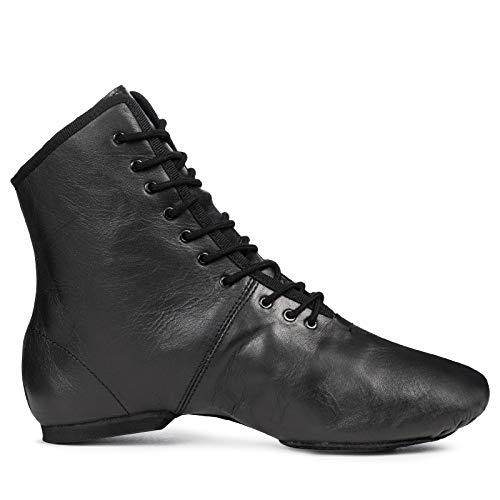Kostov Sportswear Tanzstiefel Profi (aus Leder, Geteilte und gleitfähige Chromledersohle, turniertauglich) schwarz, Gr.40