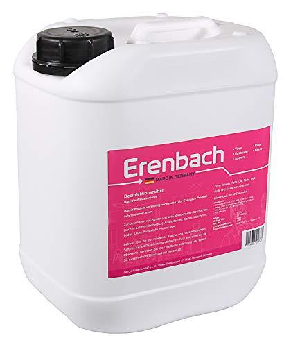 Erenbach 5 Liter Desinfektionsmittel zur Hand Desinfektion und Desinfektion von abwaschbaren Oberflächen - Flächendesinfektion