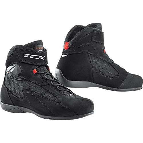 TCX Pulse - Botas para Moto, Color Negro, 45