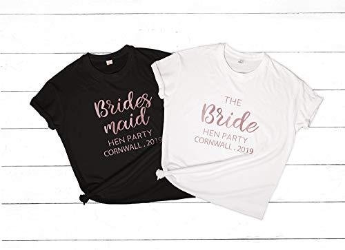 Lplpol Camisetas de dama de honor personalizadas para despedida de soltera, despedida de soltera, camisetas para dama de honor, despedidas de soltera, fin de semana personalizado