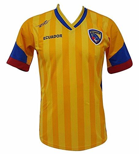 Ecuador fútbol camiseta de los hombres de la nueva Copa América 2016Diseño exclusivo - Amarillo -