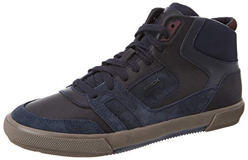 Geox Herren U KAVEN E Sneaker, Dk Blue, 45 EU