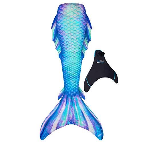 Fin Fun Atlantis Mermaid Skin, Monofin Included, Youth 8, Pacific Pearl