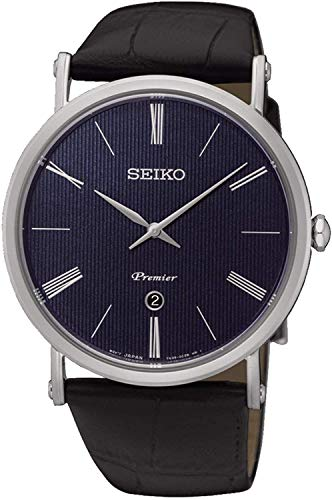 Seiko Reloj Analógico para Hombre de Cuarzo con Correa en Cuero SKP397P1