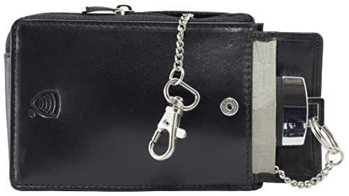 Koruma KFZ Keyless Go Schutz Autoschlüssel RFID Case - Schwarz Leder Tasche Box - NFC Signal Blocker Karte Schutzhülle Schlüsseltasche Funkschlüssel Abschirmung für Auto Motorrad - Entry Safe