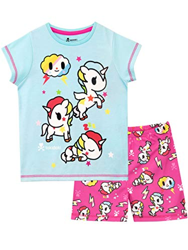 Tokidoki Pijamas de Manga Corta para niñas Unicornio Azul 12-13 Años