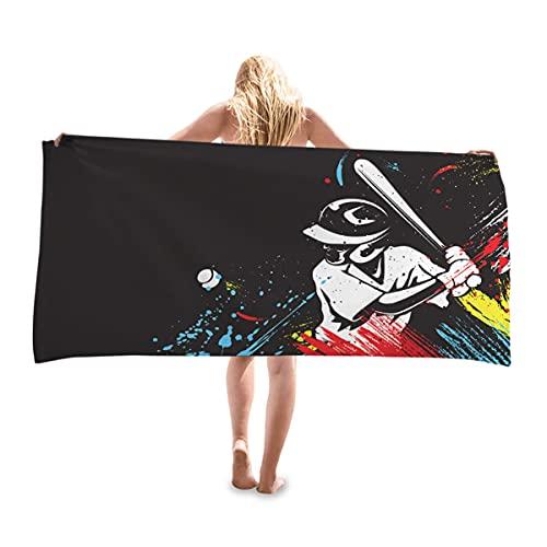 Gran Toalla De Playa Manta De Toalla De Deportes Series De Bola De Impresión Sol Mantón Ultra Suave Super Agua Absorbente Arena Seca Rápida para Niños Niños Niñas,Style 9,70X35CM