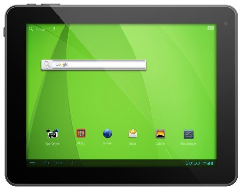 Odys Noon Pro 24,6 cm (9,7 Zoll) Tablet-PC (Rockchip Quad Core Prozessor (CPU 4 x1,6GHz), 1GB RAM, 16GB HDD, HDMI, WLAN, Android 4.2.x, IPS Display, Bluetooth, OTA) schwarz/Alu