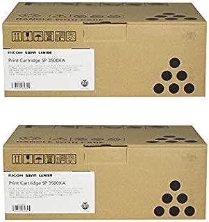 406989 Genuine Ricoh High-Yield Toner Cartridge 2 Pack, 6400 Page-Yield Per Ctg, Black