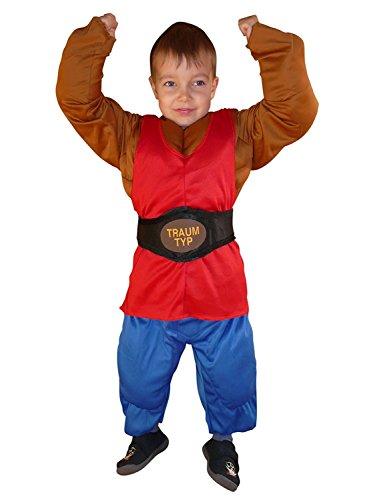 Seruna Muskelmann-Kostüm To70/00 Gr. 98-104 Kinder-Kostüme Fasching und Karneval, Kostüme für Kinder, Faschingskostüm, Karnevalkostüm