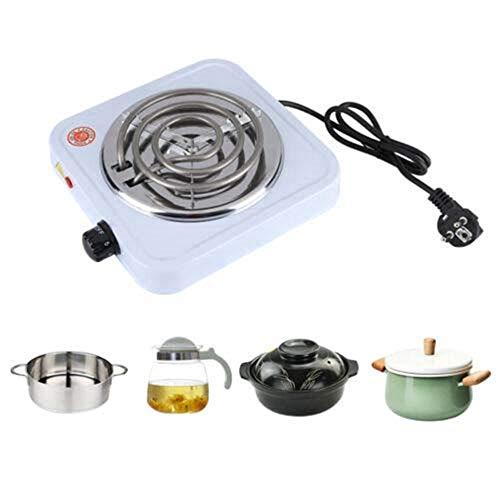 DIYARTS Elektrische Kochplatte 1000W Tragbarer Elektroherd Küchenhelfer für Kaffee und Tee