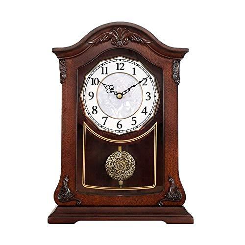 Relojes De Mesa De Escritorio, Adornos Antiguos De Madera, S