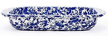Golden Rabbit Enamelware - Cobalt Blue Swirl Pattern - 3 Quart Baking Pan