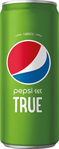 Pepsi True, Sweetened With Stevia And Cane Sugar, 10 Fluid Ounce Cans, 24 Cans