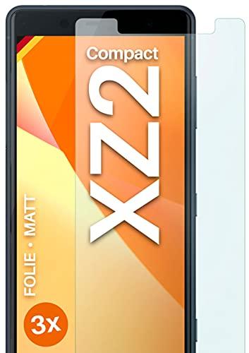 moex Pellicola protettiva opaca compatibile con Sony Xperia XZ2 Compact, pellicola protettiva antiriflesso per display opaca, 3 pezzi