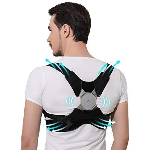 shcc Haltungskorrektor Für Männer Und Frauen. Einstellbare Orthese Mit Smart Sensor Vibration Reminder. Einstellbarer Glätteisen Für Die Obere Rückenstütze Zum Aufhängen