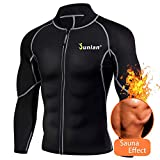Junlan Men's Neoprene Weight Loss Sauna Shirt Suit Long Sleeve Hot Sweat Body Shaper Tummy Fat…