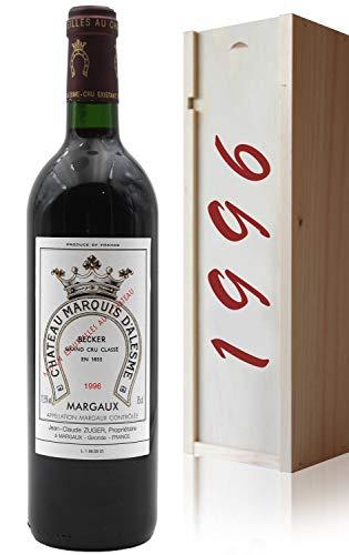 Coffret Château Marquis d Alesme Becker 1996-75cl AOC Margaux